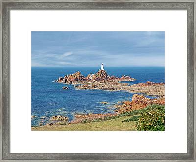 Corbiere Lighthouse Jersey Framed Print