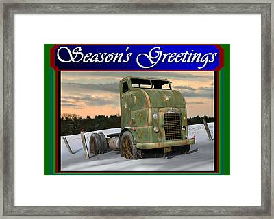 Corbitt Christmas Card Framed Print by Stuart Swartz