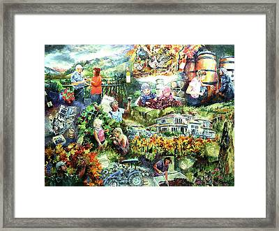 Corcelette Winery  Framed Print