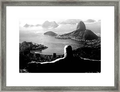 Corcovado - Rio De Janeiro - Brasil Framed Print