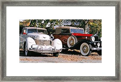 Cord Packard Framed Print by Paul  Trunk