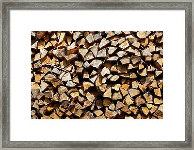 Cord Wood Texture Framed Print