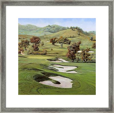 Cordevalle Golf Course Framed Print by Guido Borelli
