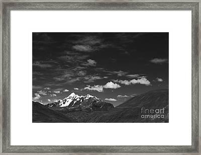 Cordillera Vilcanota Peru Framed Print by James Brunker