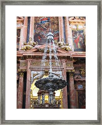 Cordoba Ancient Church In Marble II Spain Framed Print by John Shiron