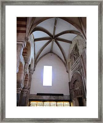 Cordoba Ancient High Ceiling Church Spain Framed Print by John Shiron