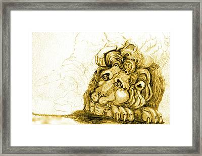 Cordoba Lion Framed Print by Dan Earle