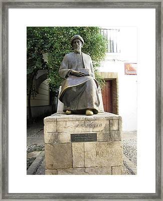 Cordoba Maimonides Statue Or Moses Ben Maimon Aka Rambam Jewish Quarter Viii Spain Framed Print