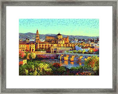 Cordoba Mosque Cathedral Mezquita Framed Print