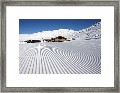 Corduroy Chamonix France Framed Print by Pierre Leclerc Photography