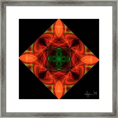 Core Framed Print by Angela Treat Lyon