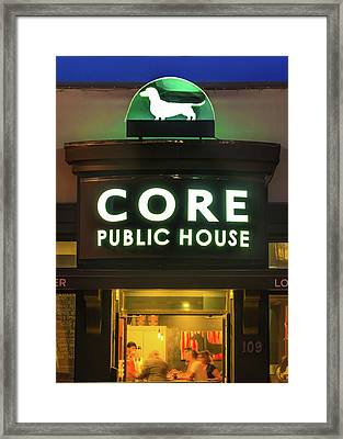 Core Brewery Public House - Downtown Bentonville Framed Print by Gregory Ballos