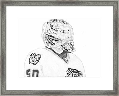 Corey Crawford Framed Print by Kiyana Smith