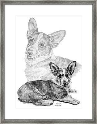 Corgi Dog Art Print Framed Print by Kelli Swan