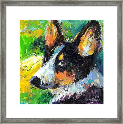 Corgi Dog Portrait Framed Print by Svetlana Novikova