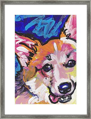 Corgi Luv Framed Print by Lea S