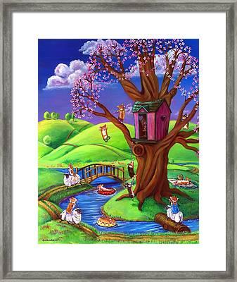 Corgis Bodacious Spring Fling Framed Print