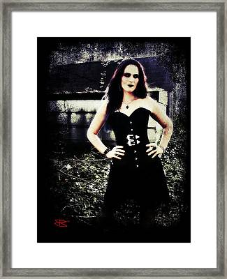 Framed Print featuring the digital art Corinne 1 by Mark Baranowski