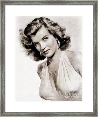 Corinne Calvet, Vintage Actress Framed Print by John Springfield