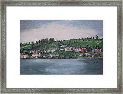 Framed Print featuring the painting Cork City Ireland by Kevin Callahan