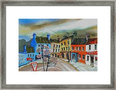 Cork... Glengarriff Signposts Framed Print