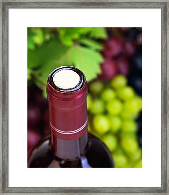 Cork Of Wine Bottle  Framed Print by Anna Om