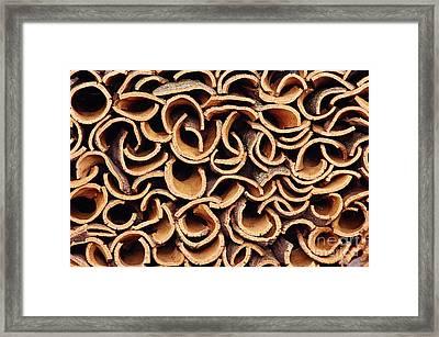 Cork Pile Framed Print by Carlos Caetano