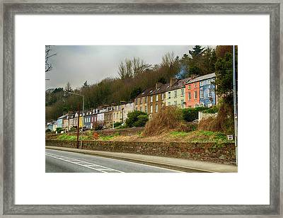 Cork Row Houses Framed Print by Marie Leslie