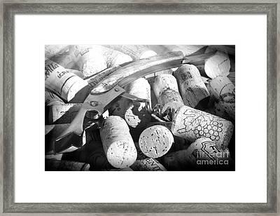Corks And Pull Corkscrew Framed Print