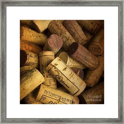 Corks Framed Print by Bernard Jaubert