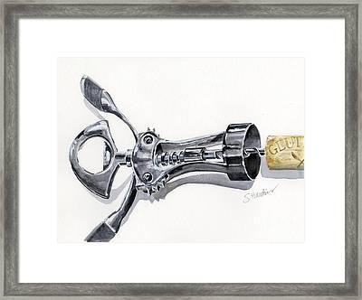 Corkscrew Framed Print by Sheryl Heatherly Hawkins