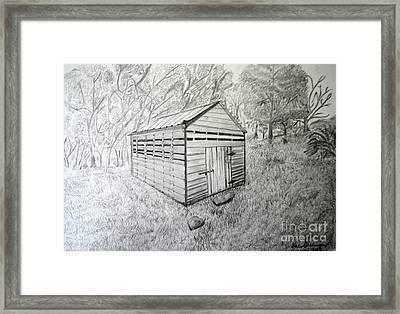 Smokehouse Framed Print by Dale Ballenger