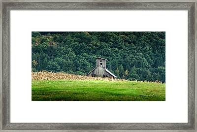 Corn Field Silo Framed Print by Marvin Spates