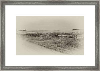 Corn Gate Rusty Framed Print by Wilma  Birdwell