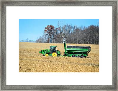 Corn Harvest Framed Print