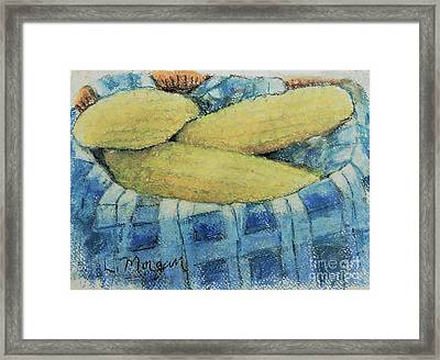 Corn In A Basket Framed Print