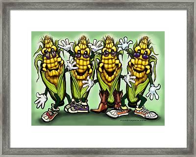 Corn Party Framed Print by Kevin Middleton