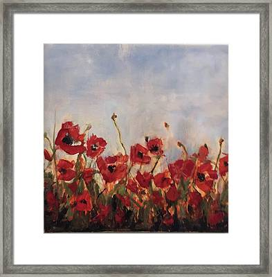 Corn Poppies In Remembrance Framed Print