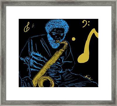 Cornelius Bumpus Framed Print by Jack Bunds