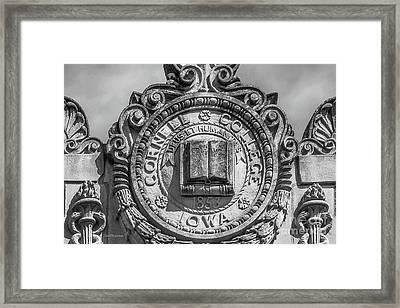 Cornell College Seal Framed Print