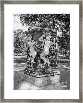 Cornell College The Old Fountain Framed Print