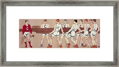 Cornell Eight Crew Rowing Poster Framed Print