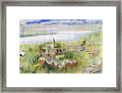 Cornell University Framed Print by Melly Terpening