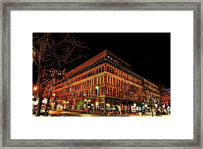 Corner At 16th St Mall Framed Print
