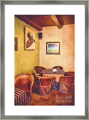 Corner Booth  ... Framed Print by Chuck Caramella