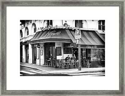 Corner Cafe Framed Print by John Rizzuto