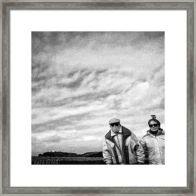 Corner Couple  #people #instapeople Framed Print