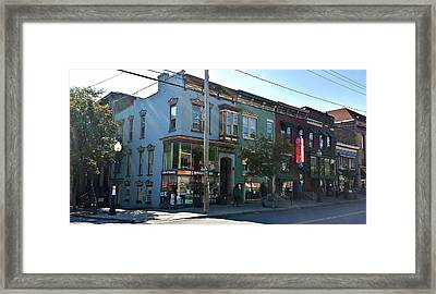 Corner Lark And Jay Streets Framed Print by Mark Victors