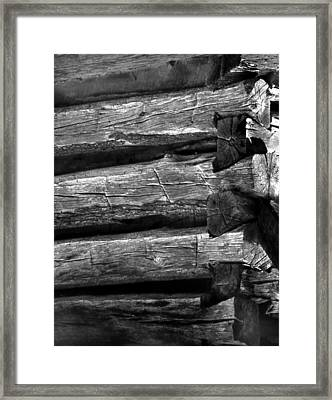 Corner-logs Framed Print