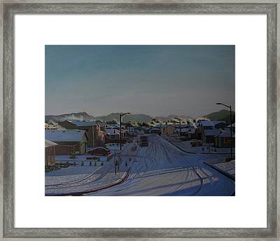 Corner Of 157th St. And 168th Ave. Framed Print by Thu Nguyen